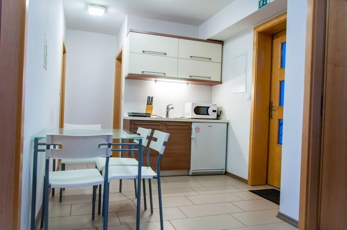 Študentske sobe v Ljubljani - kuhinja in jedilnica